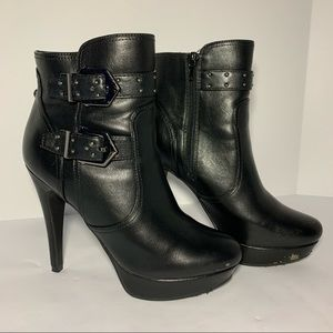 G by Guess Dalli Platform Ankle Booties Stiletto